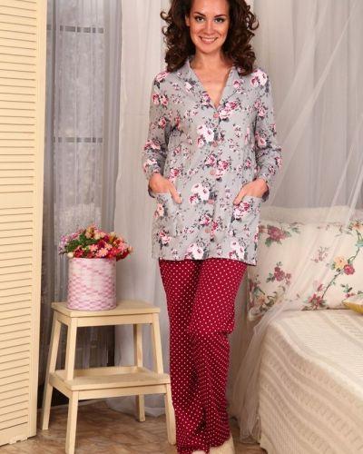 Пижама с брюками на пуговицах хлопковая Грандсток