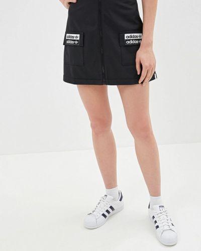 Юбка черная Adidas Originals