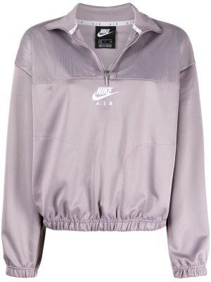 Фиолетовая длинная куртка с длинными рукавами Nike