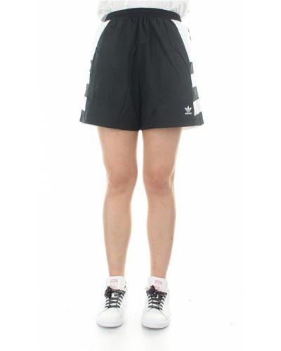 Czarne szorty z wysokim stanem Adidas