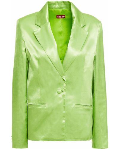 Зеленый пиджак с карманами на пуговицах Staud