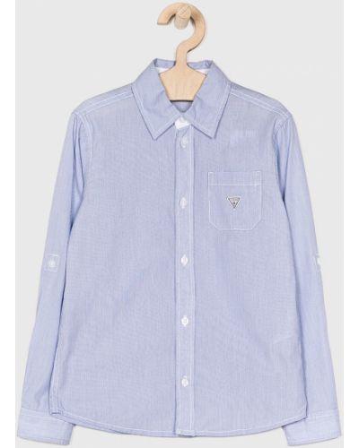 Джинсовая рубашка синий на пуговицах Guess Jeans