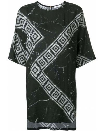 Футбольная черная футболка со стразами Versace Collection