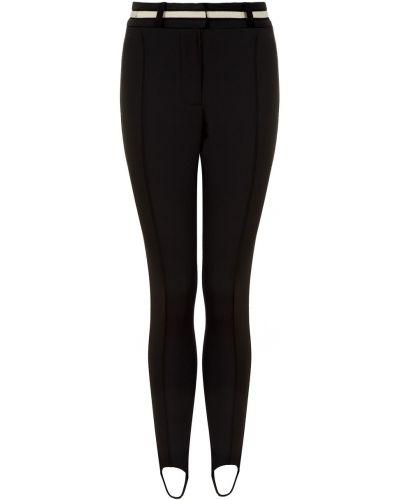 Прямые черные прямые брюки из вискозы Laroom