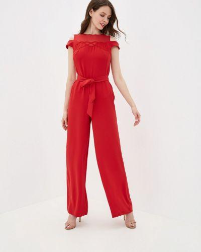 Брючный комбинезон красный Yuna Style