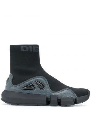 Высокие кроссовки - черные Diesel