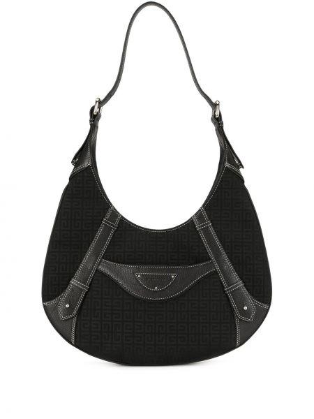 Парусиновая черная кожаная сумка Givenchy Pre-owned