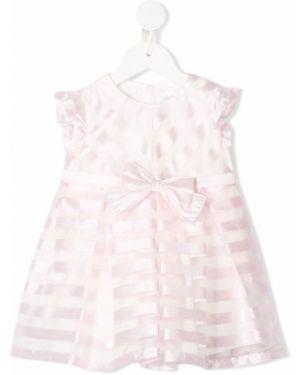 Różowa sukienka mini rozkloszowana w paski Aletta