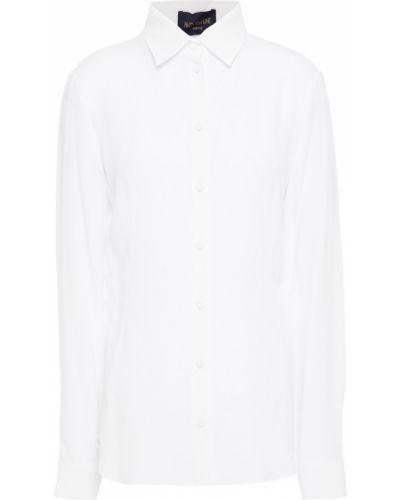 Белая шелковая рубашка Piazza Sempione