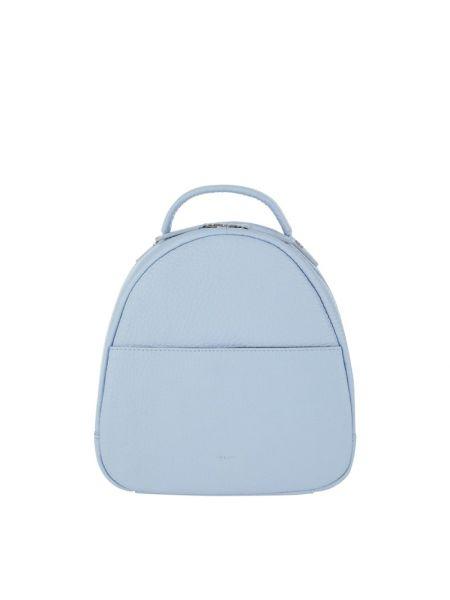 Niebieski plecak skórzany w paski Treats
