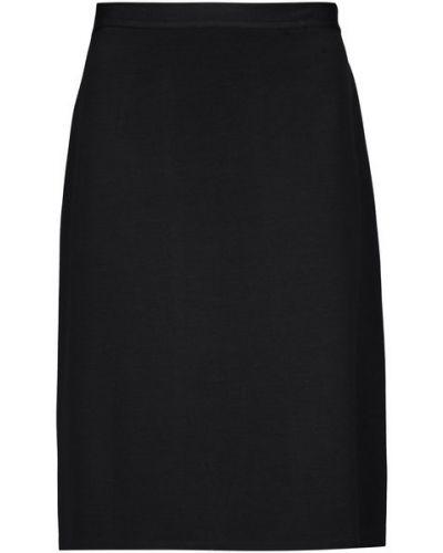 Вязаная шерстяная прямая вязаная юбка до середины колена St. John