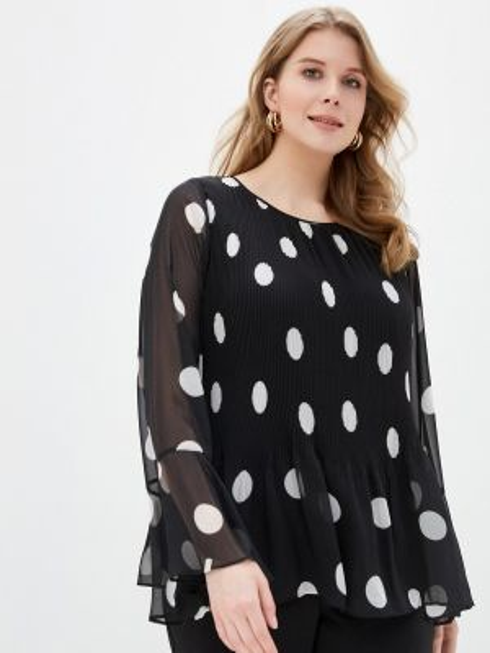 Блузка с длинным рукавом черная весенний Evans