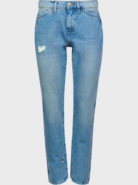 Хлопковые джинсы на пуговицах Mih Jeans