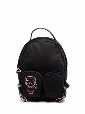 Czarny mały plecak Karl Lagerfeld