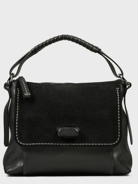 Кожаная сумка - черная Plinio Visona'