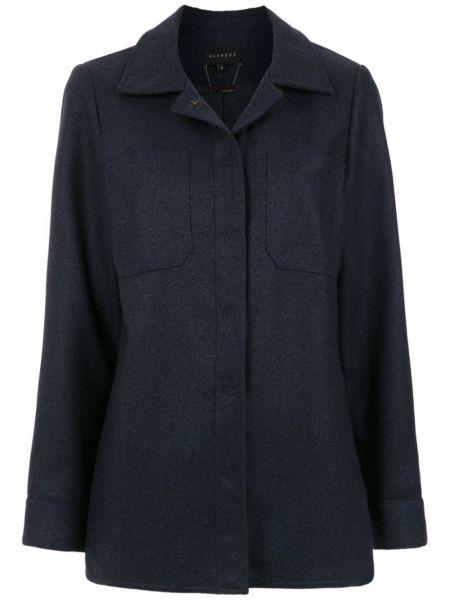Прямой синий пиджак Alcaçuz