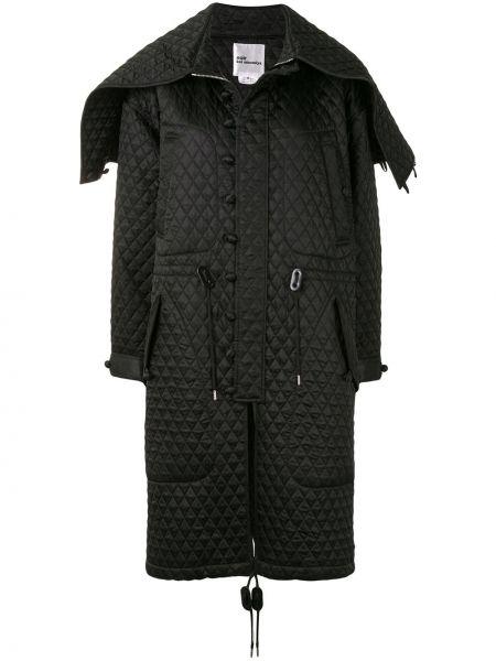 Черный дафлкот на пуговицах с декоративной отделкой Comme Des Garçons Noir Kei Ninomiya