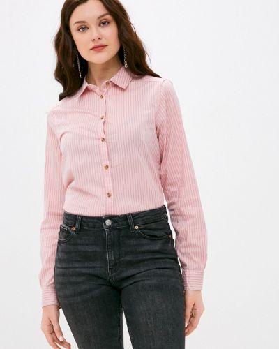 Розовая рубашка с длинными рукавами Springfield