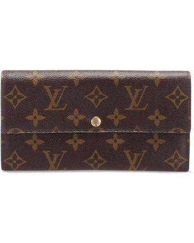 Złoty brązowy portfel Louis Vuitton
