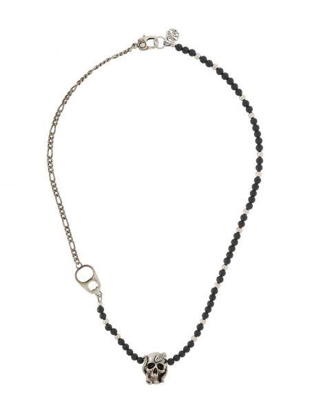 Черное ожерелье с бисером Alexander Mcqueen