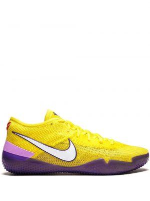 Нейлоновые желтые кроссовки на шнуровке Nike