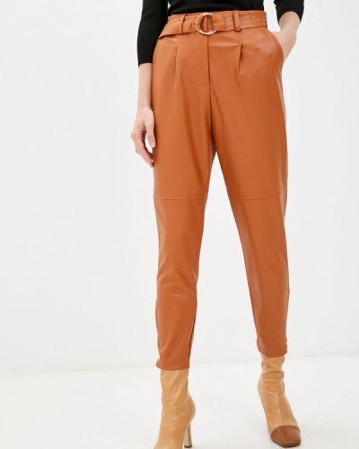 Кожаные брюки - коричневые Zabaione