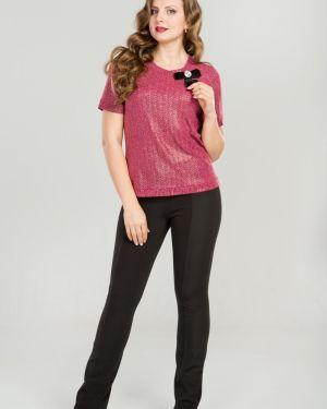 Блузка розовая с люрексом прима линия
