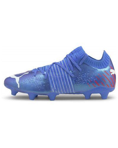 Синие бутсы на шнуровке Puma