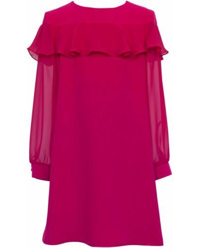 Платье с рукавами однотонное розовый Sly