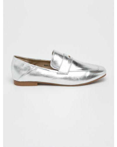 Мокасины серебряного цвета Answear
