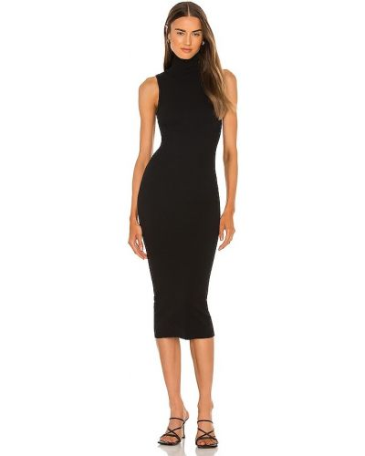 Хлопковое платье миди - черное Pam & Gela