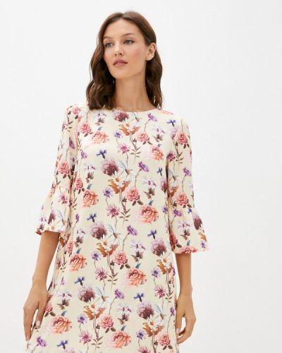 Бежевое прямое платье Masha Mart