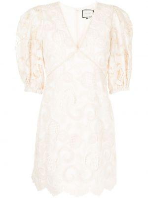Белое платье мини короткое Alexis