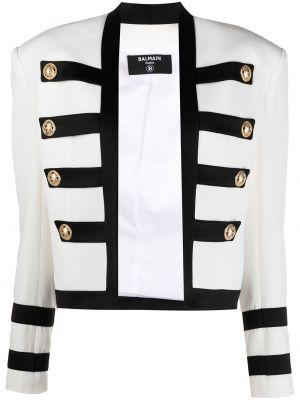 Пиджак милитари - белый Balmain