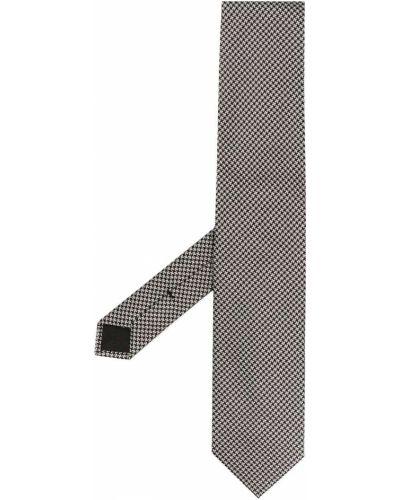 Серая шелковая резинка для волос с рисунком Tom Ford