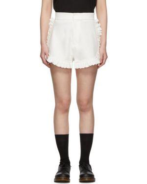 Короткие шорты белые серебряный Shushu/tong