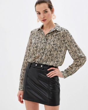 Блузка с длинным рукавом бежевый Sweewe