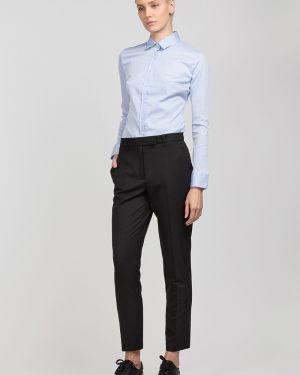 Блузка приталенная комбинированный Vassa&co
