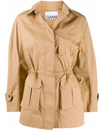 Классическая куртка с воротником на пуговицах с карманами Ganni