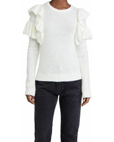 Мягкий бежевый шерстяной длинный свитер English Factory