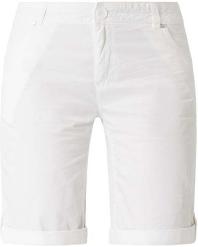 Bawełna biały bermudy z zamkiem błyskawicznym z kieszeniami S.oliver Red Label