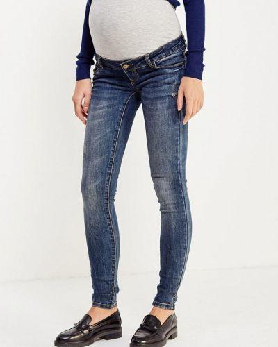 Синие джинсы-скинни Mama.licious