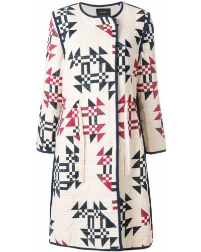 Длинное пальто с цветочным принтом Isabel Marant