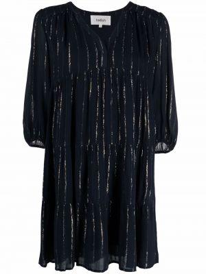 Платье с V-образным вырезом - синее Ba&sh