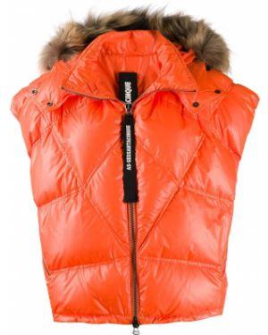 Куртка с енотом с перьями As65