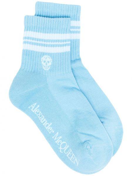Хлопковые носки в полоску эластичные Alexander Mcqueen