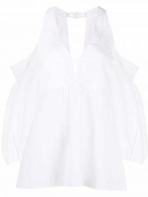 Biała bluzka bawełniana z dekoltem w serek Dorothee Schumacher