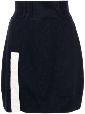 Prążkowana niebieska spódniczka mini Monse