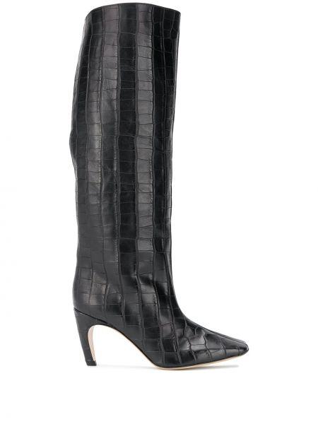 Кожаные сапоги - черные Gia Couture