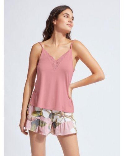 Пижама из вискозы - розовая Gisela
